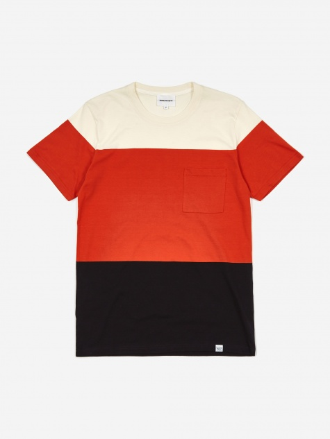 Niels Color Block T-Shirt - Orange