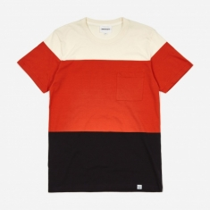 Norse Projects Niels Color Block T-Shirt - Orange