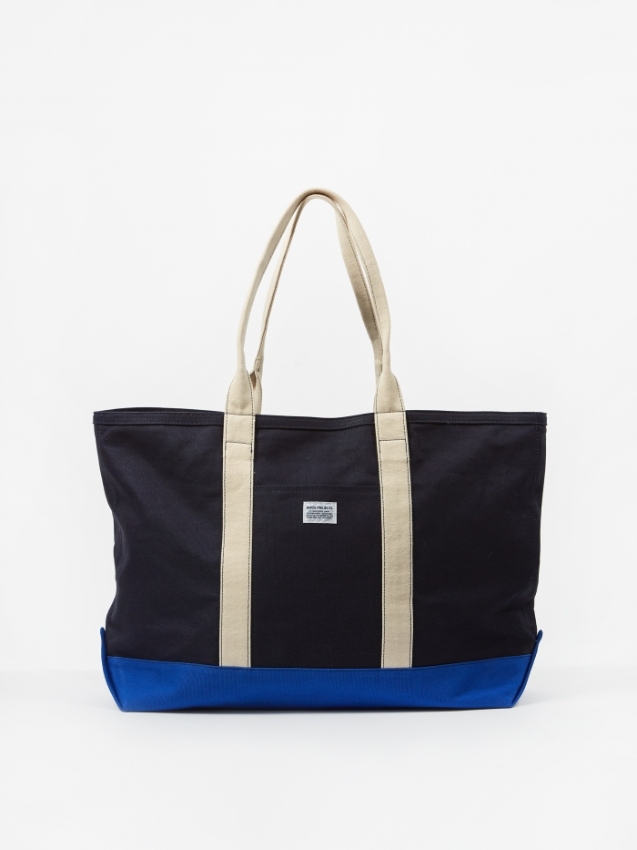 Norse Projects Stefan Beach Bag - Dark Navy (Image 1)