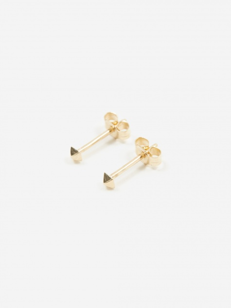 Pyramid Mini Stud Earrings - 9ct Yellow Gold