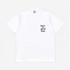 Have A Good Time Pocket Tee - White/Black