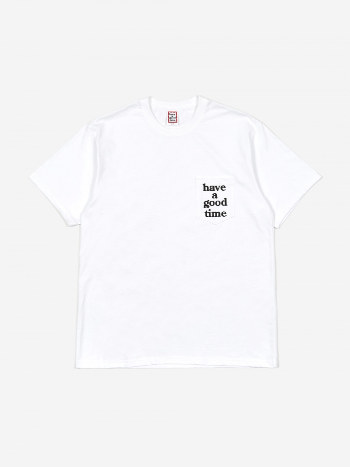 Have A Good Time Pocket Tee - White/Black (Image 1)
