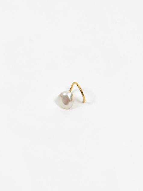 Baroque Twirl Left Earring - High Polished Gold