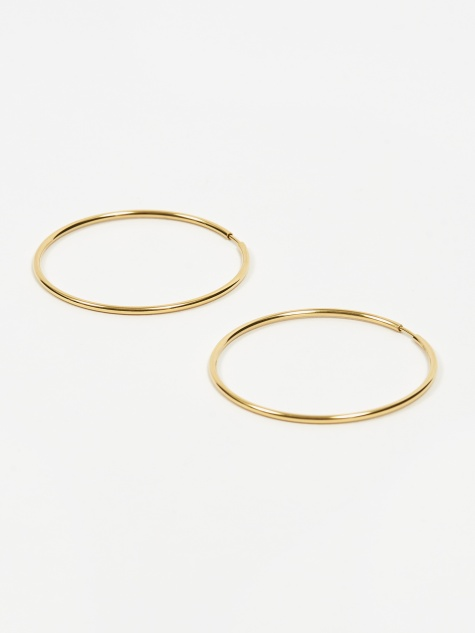 Senorita 50 Hoop Earring Pair - High Polished Gold