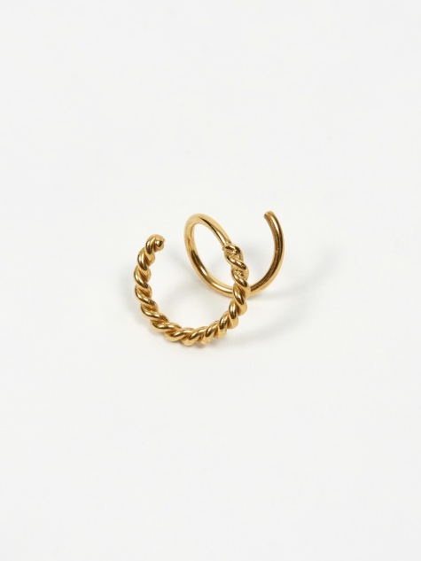 Baroque Sofia Twirl Left Earring - 18k Gold Plated