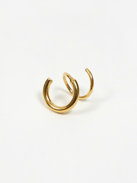 Dogma Twirl Left Earring - 18k Gold Plated