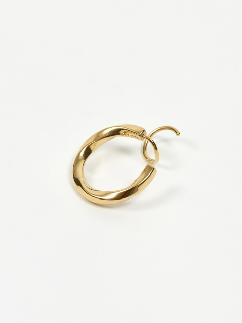 Marcelle Twirl Right Earring - 18k Gold Plated