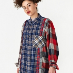 Needles Wide 7 Cuts Flannel Shirt One Size 5 - Assorted