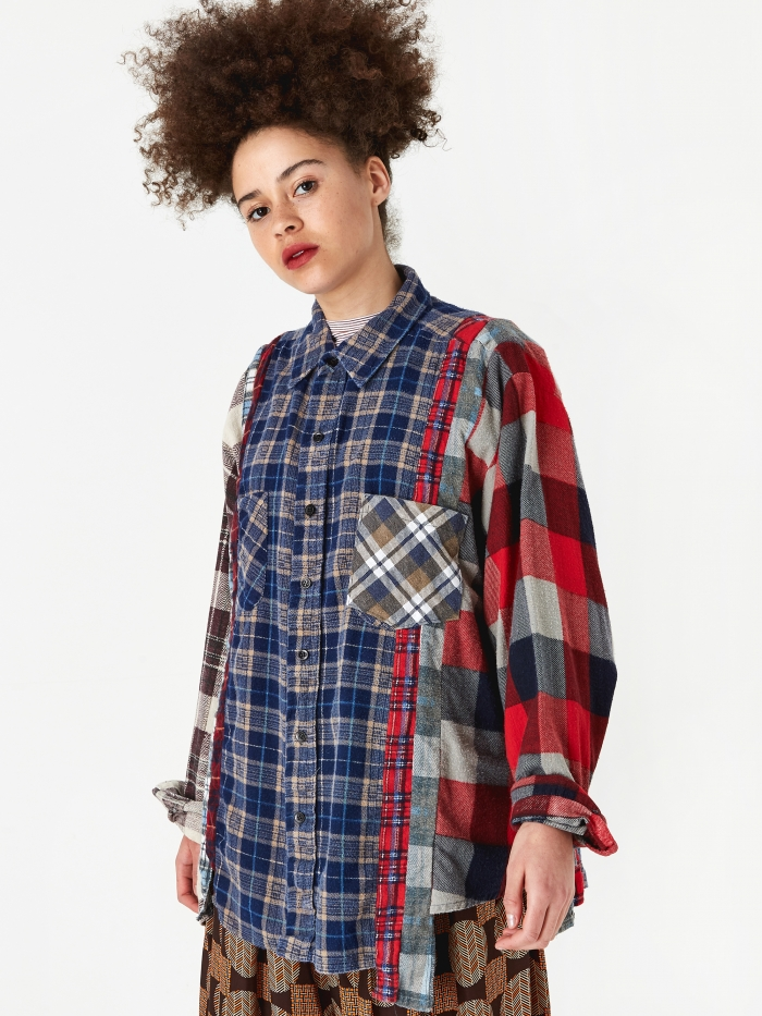 Needles Wide 7 Cuts Flannel Shirt One Size 5 - Assorted (Image 1)
