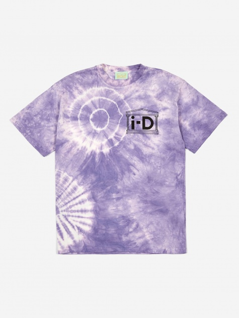 x i-D Flower Tie Dye Shortsleeve T-Shirt - Purple