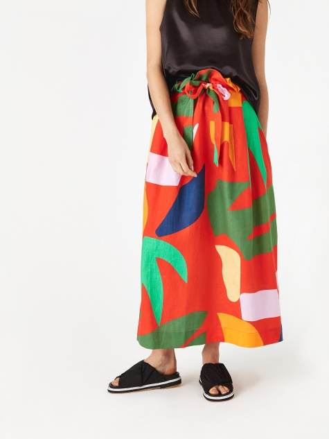 Adora Skirt - Red Multi