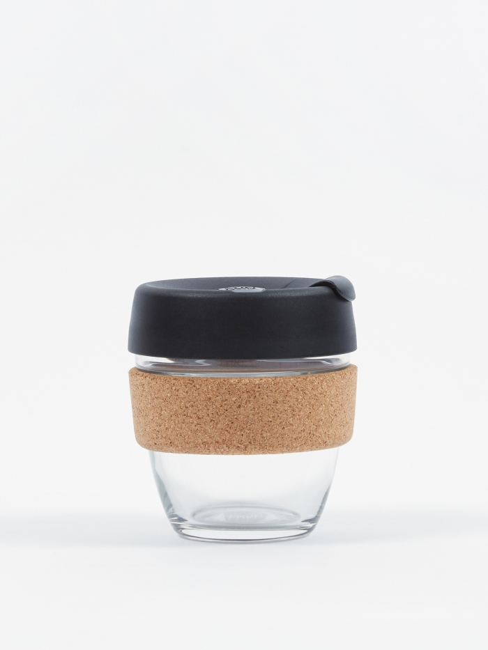KeepCup Cork Brew Reusable 8oz Glass Coffee Cup - Espresso (Image 1)