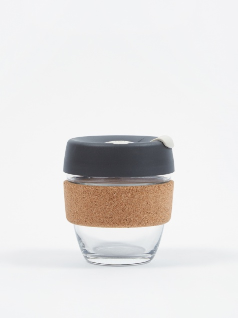 Cork Brew Reusable 8oz Glass Coffee Cup - Press