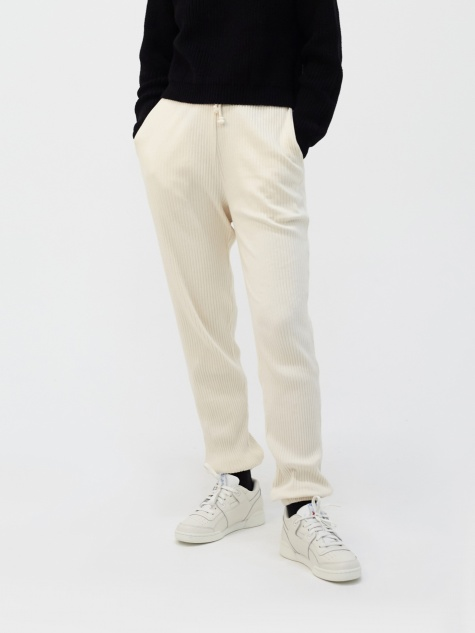 Basic Rib Sweat Pant - Off White