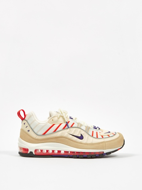 Air Max 98 - Sail/Purple/Cream/Desert Ore