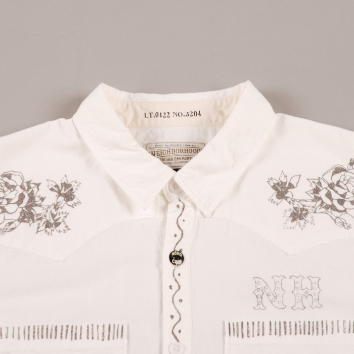 Neighborhood Highliner L/S Shirt - White (Image 1)