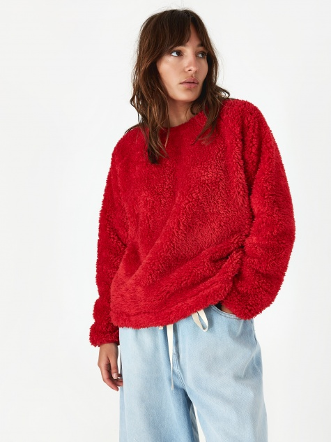 Deliverance Fleece - Red