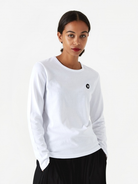 Moa Longsleeve T-Shirt - Bright White