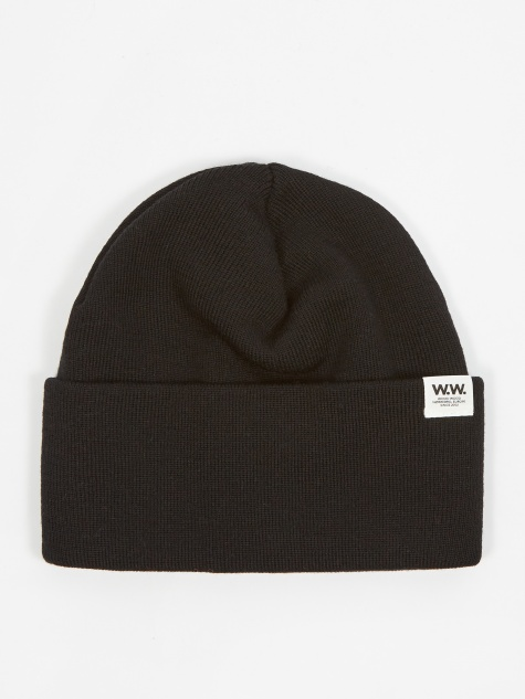 Wood Wood Gerald Tall Beanie Hat - Black