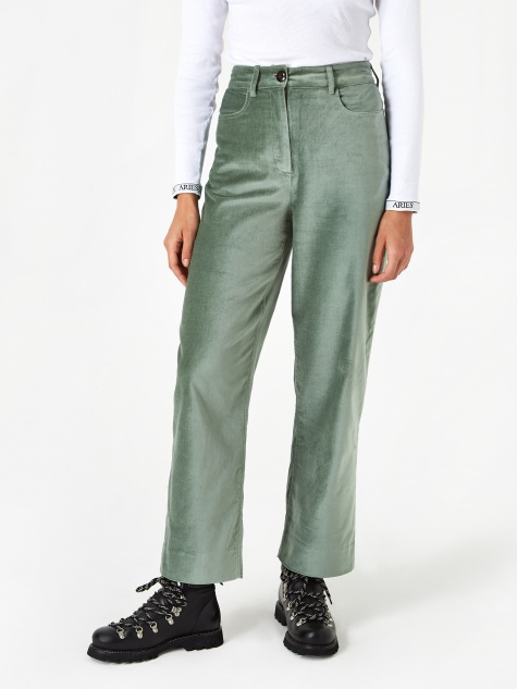 Althea Trouser - Dusty Green