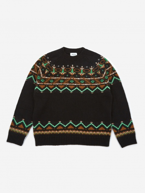 Gunther Sweater - Black Jacquard