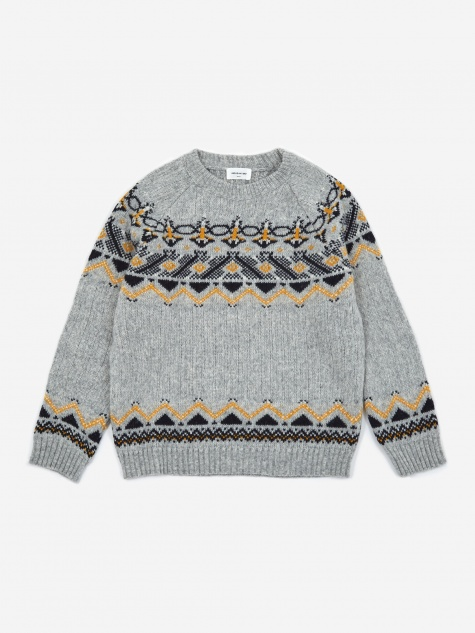 Gunther Sweater - Grey Jacquard