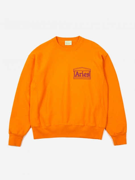 Cross Grain Temple Sweatshirt - Orange