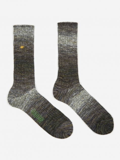 GO HEMP Splash Crew Sock - Grey
