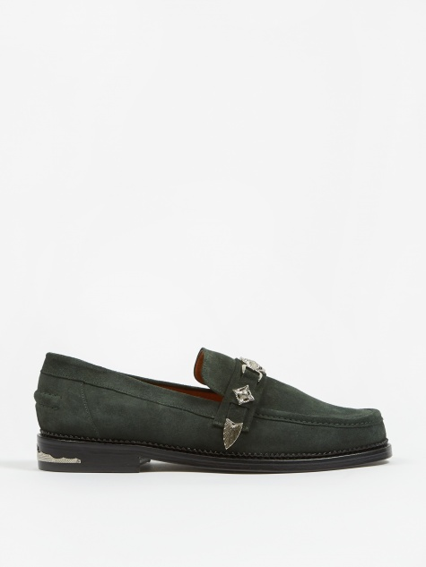 Suede Loafer - Green