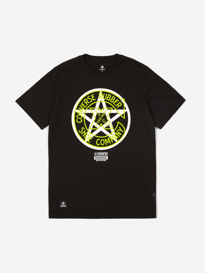 Converse x Neighborhood T-Shirt - Black (Image 1)