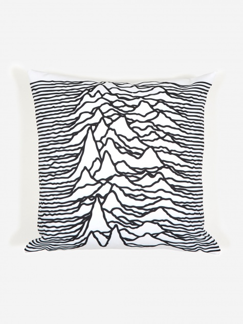Goodhood x Joy Division 'Unknown Pleasures' Cushion - White