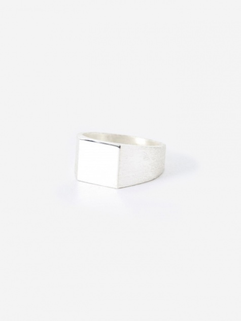 Platform Ring - Polished/Brushed Silver