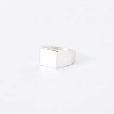 All Blues Platform Ring - Polished/Brushed Silver
