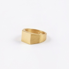 All Blues Platform Ring - Polished/Brushed Gold