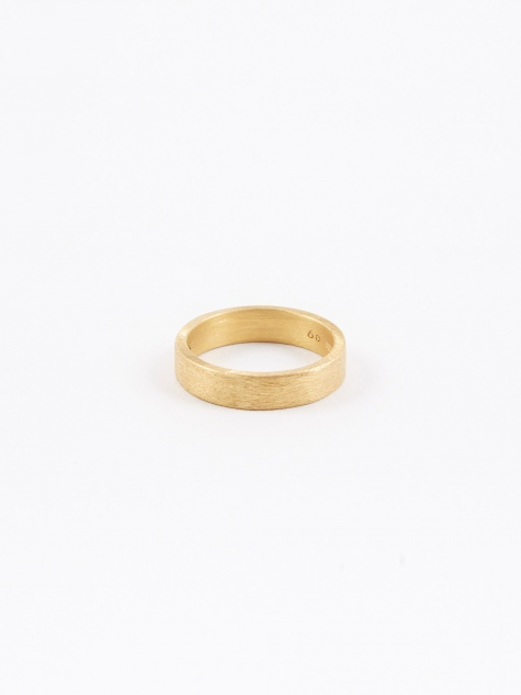 Rectangle Ring - Brushed Gold