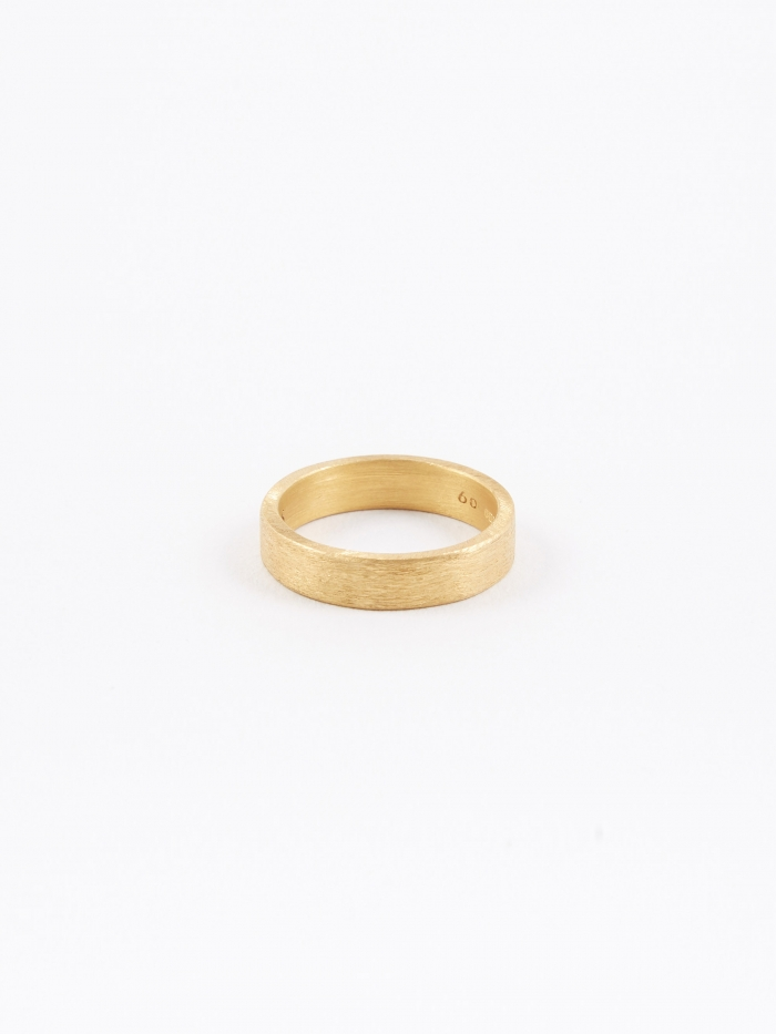 All Blues Rectangle Ring - Brushed Gold (Image 1)