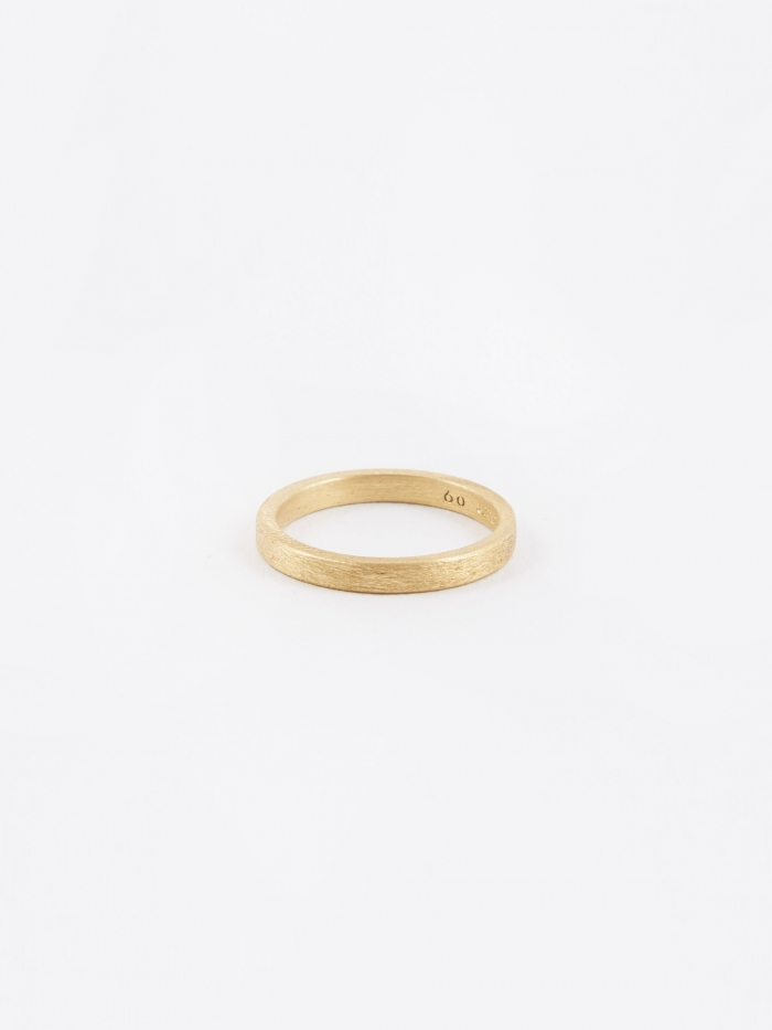 All Blues Square Ring - Brushed Gold (Image 1)