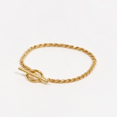 All Blues Rope Bracelet - Polished Vermeil Gold
