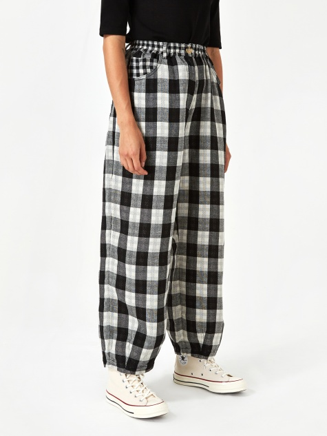 Fat Boy Trouser - Black Check
