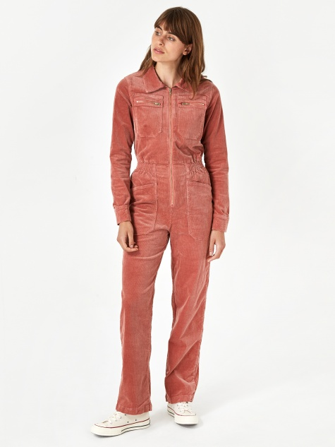 Danny Corduroy Boilersuit - Copper Blush