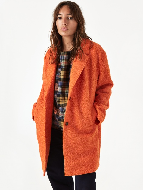 Cocoon Heroes Coat - Orange