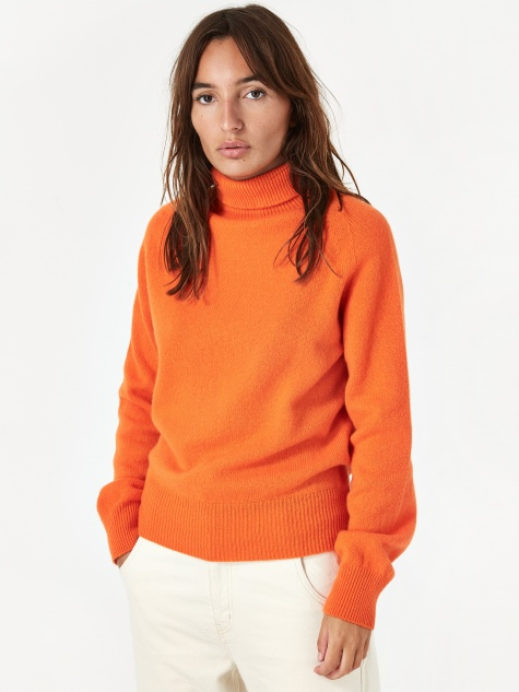 Layter Roll Knit Jumper - Orange