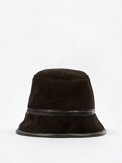 Sheepskin Bucket Hat - Black