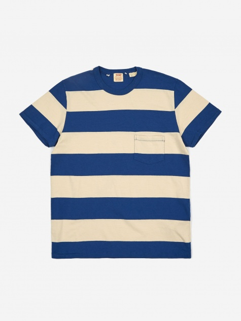 Levis Vintage Clothing 1960's Casuals Stripe T-Shirt - Blue Whi