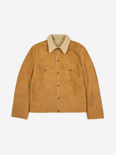 Levis Vintage Clothing Suede Sherpa Jacket - Golden Nugget