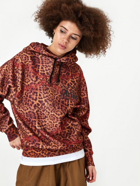 Leopard Chain Hooded Sweatshirt - Leopard