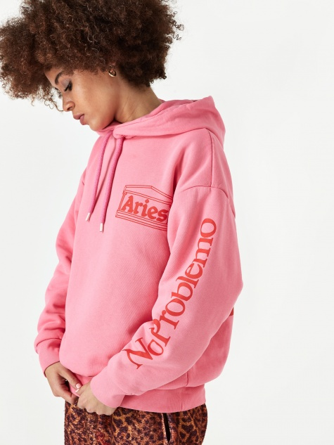 Temple Logo Hooded Sweatshirt - Pink/Red