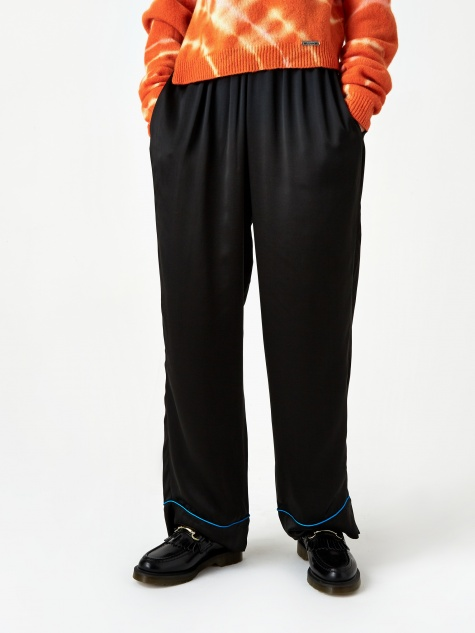 Aries Silk Pyjama Pant - Black