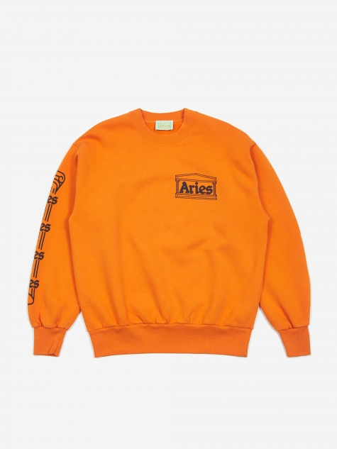 Column Crewneck Sweatshirt - Orange