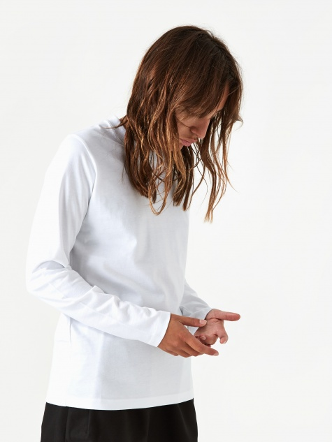 Gro Standard Cotton Longsleeve T-Shirt - White
